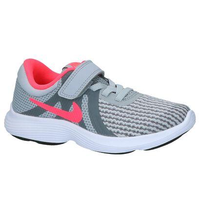 Nike Revolution Baskets basses en Gris clair en textile (222608)