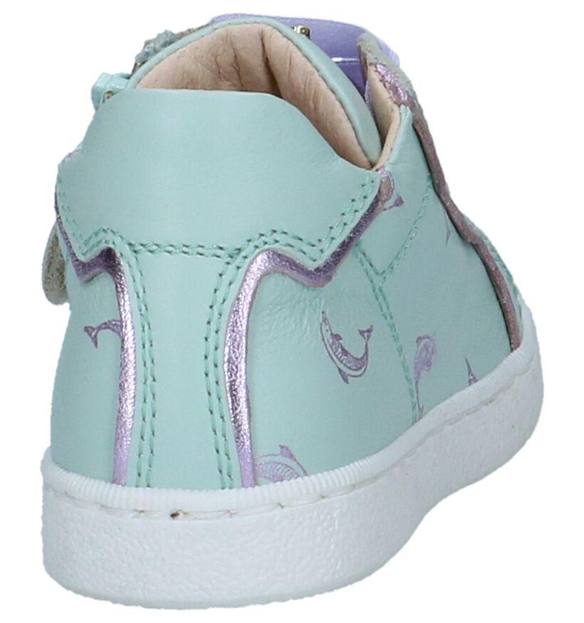 STONES and BONES Chaussures basses en Vert menthe en cuir (239872)