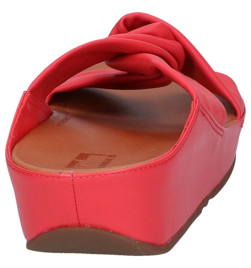 Rode Slippers FitFlop Twiss in leer (240180)