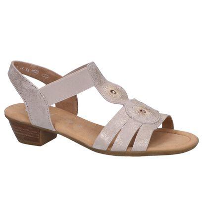 Metallic Roze Sandalen Gabor Comfort in daim (245563)