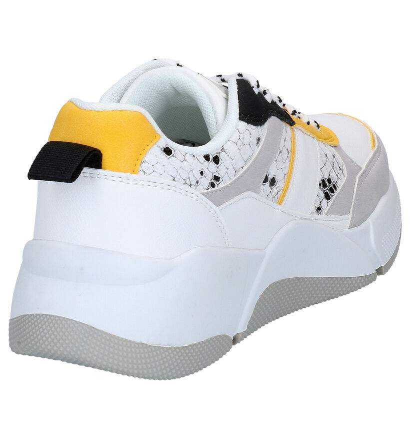 Dazzle Zwarte Sneakers in kunstleer (276492)