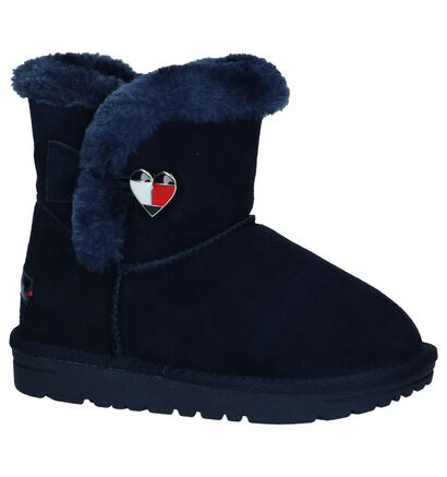 Donkerblauwe Boots Tommy Hilfiger in daim (225262)
