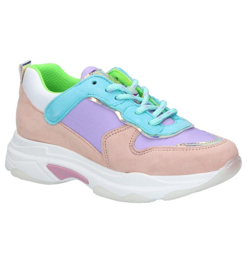 Hampton Bays Multicolor Sneakers in daim (275396)