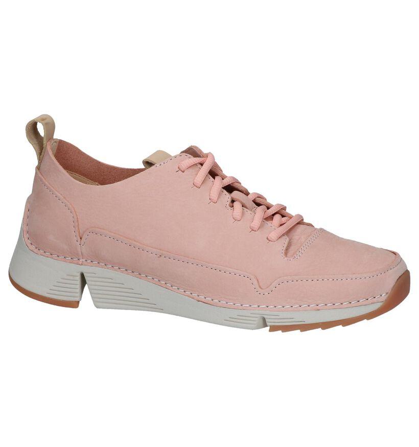 Clarks Chaussures à lacets en Rose clair en nubuck (241588)