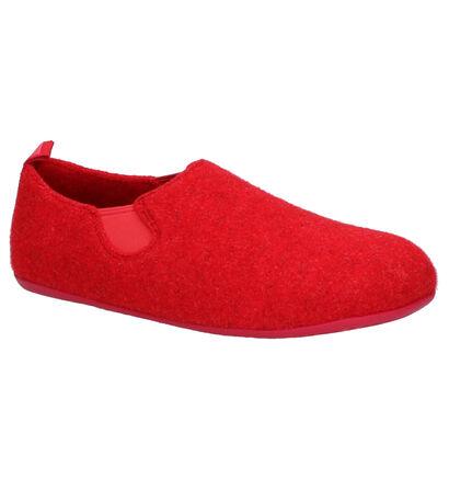 Camper Pantoufles fermées en Rouge en textile (256032)