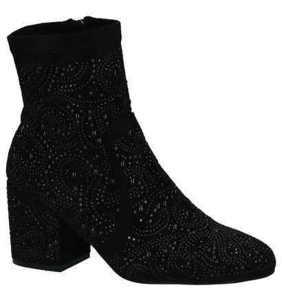 Alma en Pena Zwarte Korte Laarzen, Zwart, pdp