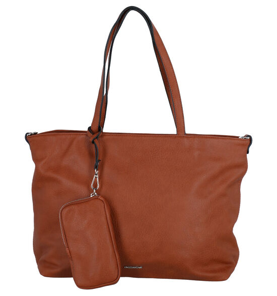 Emily & Noah Cognac Bag in bag Shopper