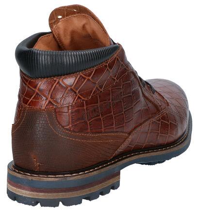 Cycleur de Luxe Chaussures hautes en Marron en cuir (259412)