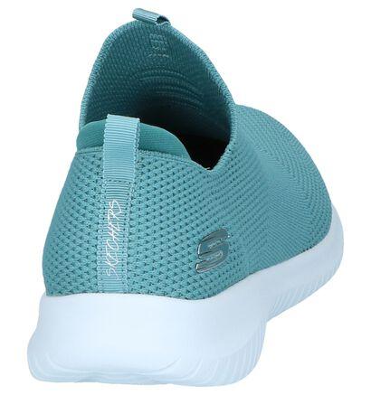 Skechers Ultra Flex Zwarte Slip-on Sneakers in stof (265022)