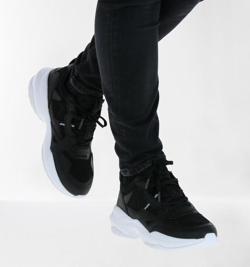 Arkk Quantm Leather Zwarte Sneakers in kunstleer (279278)