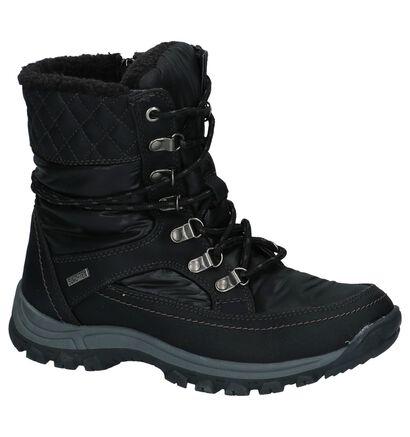 Dazzle Bottes de neige en Noir en simili cuir (222478)