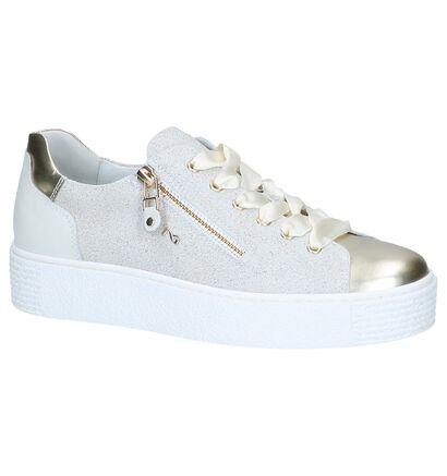 Zwarte Geklede Sneakers met Glitters NeroGiardini , Beige, pdp