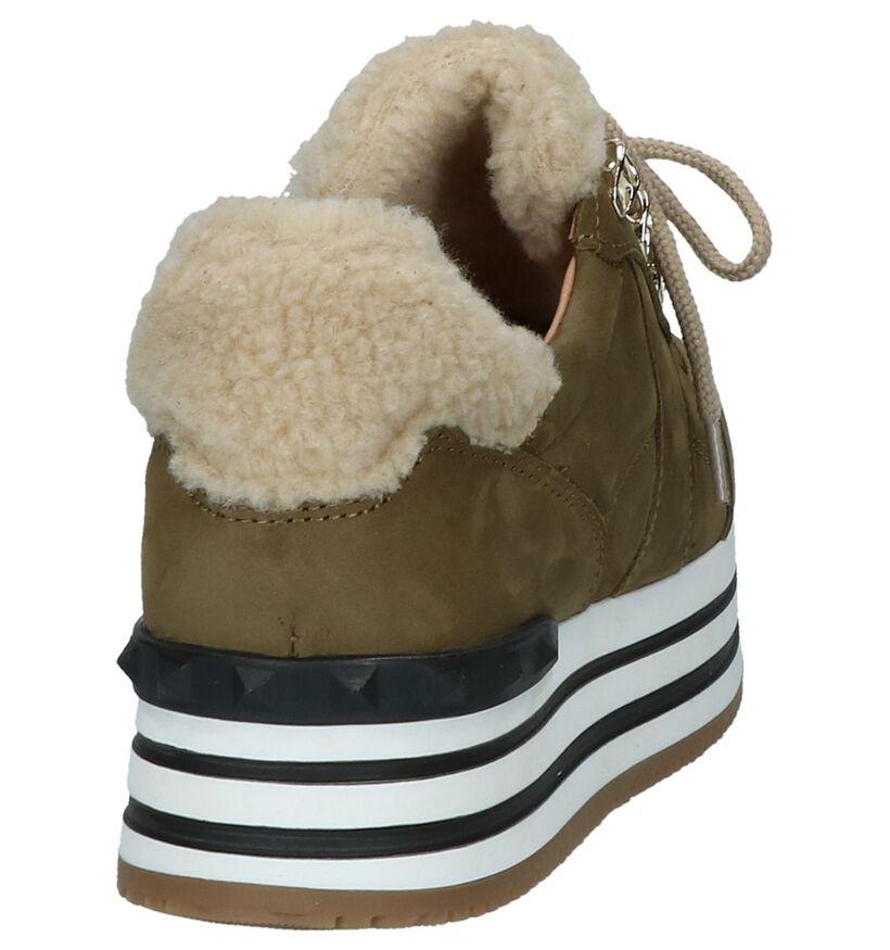 Scapa Kaki Sneakers in daim (227354)