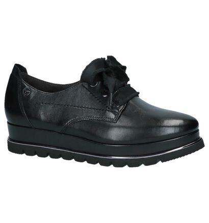 Tamaris Chaussures à lacets en Noir en cuir (222166)