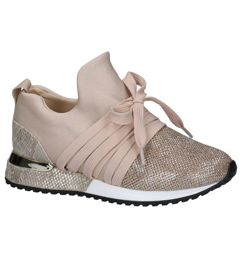 La Strada Zwarte Sneakers in stof (278416)