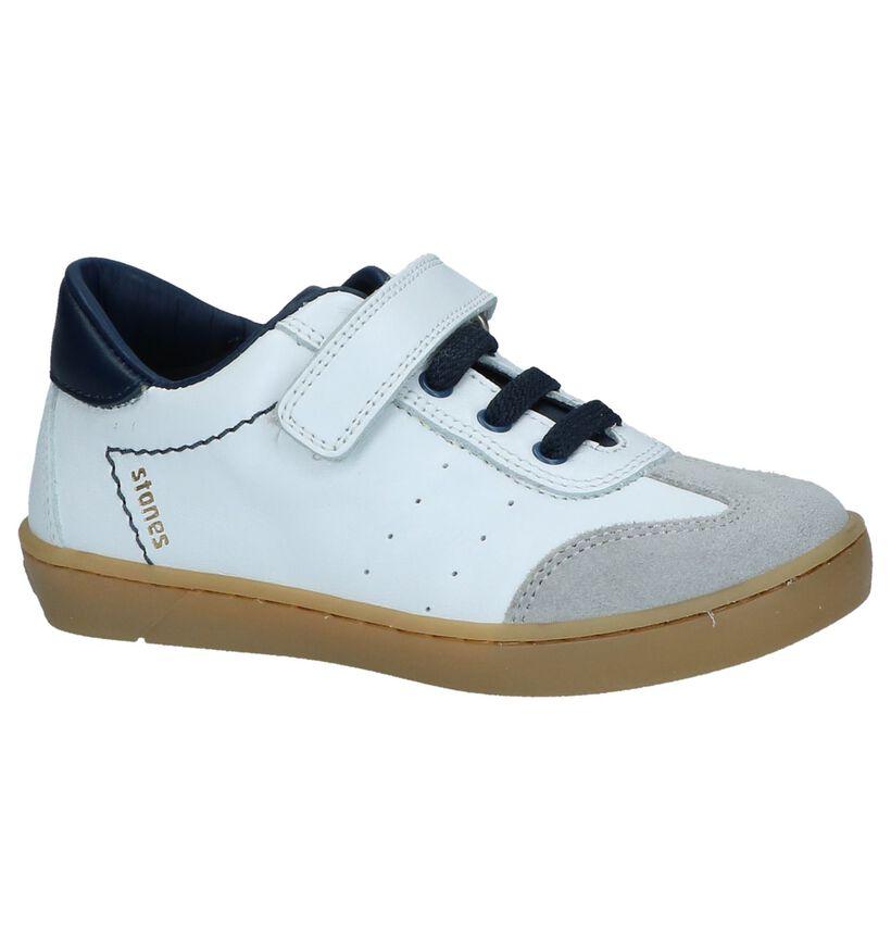 STONES and BONES Chaussures basses en Blanc en cuir (239804)