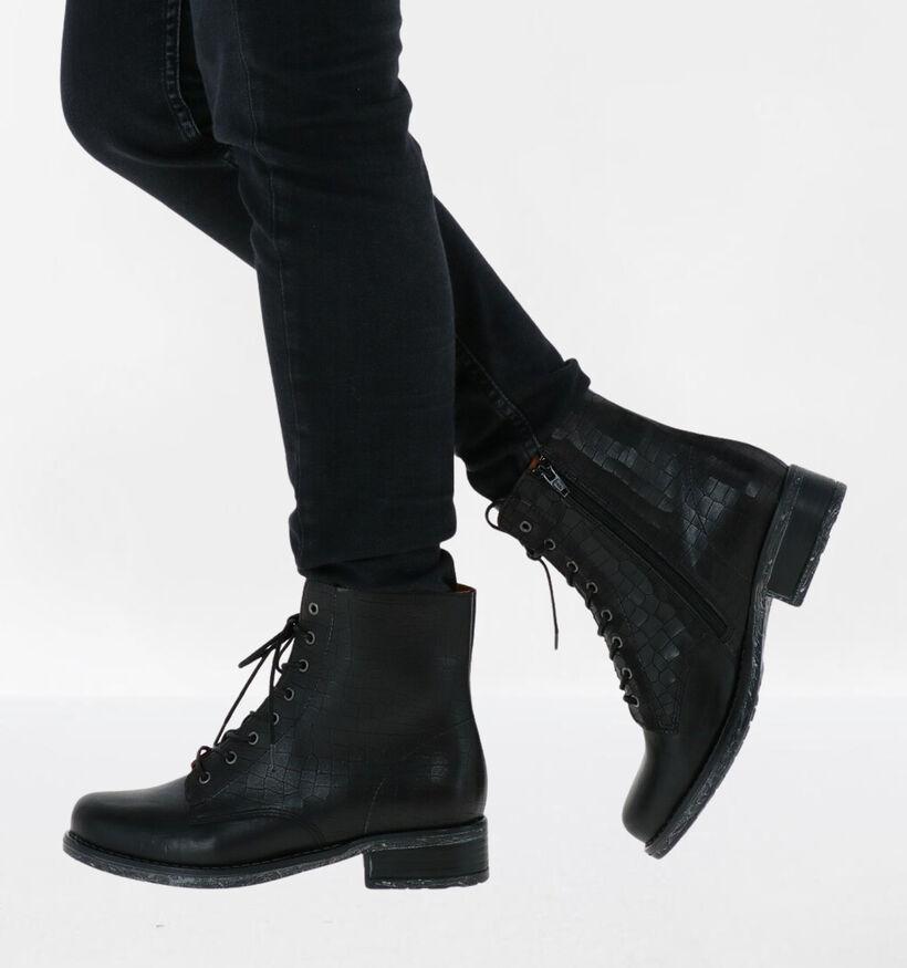 Brako Bottines en Noir en cuir (284751)