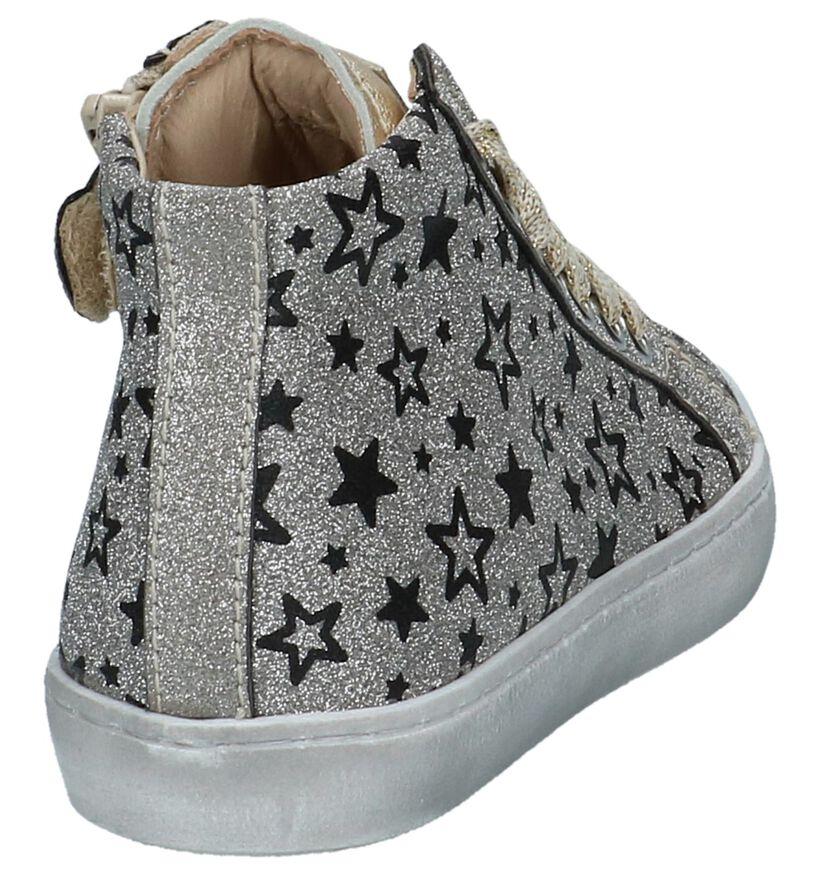 Beberlis Chaussures hautes en Argent en textile (230233)