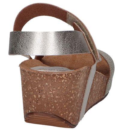 Hee Sandales à talons en Jaune en cuir (244428)