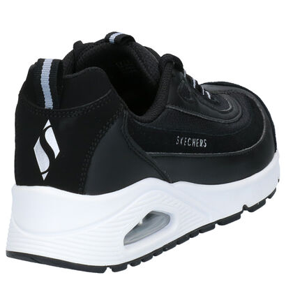 Skechers Uno Roundabout Sneakers Zwart in leer (254209)
