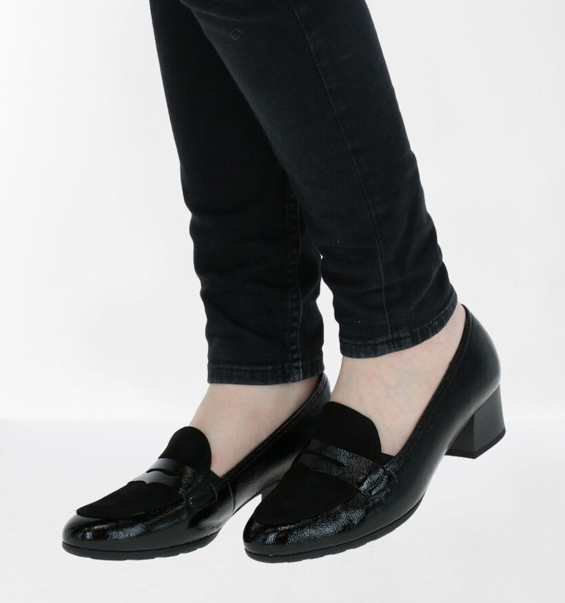 Gabor Zwarte Pumps in leer (282361)