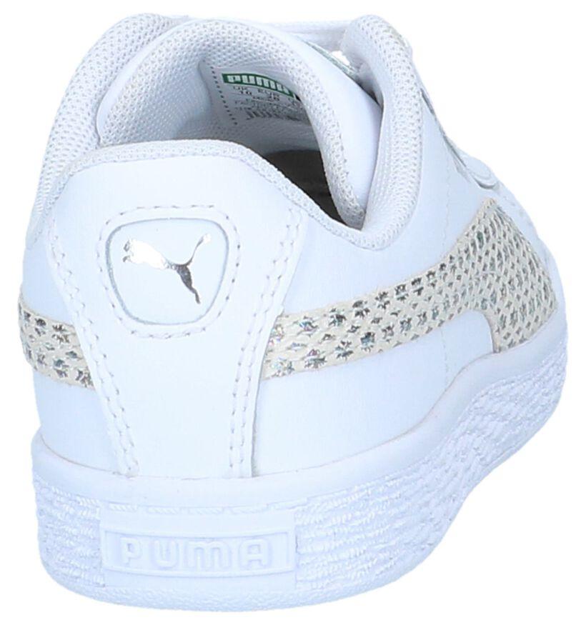 Witte Sneakers Puma Basket Chameleon in leer (239518)