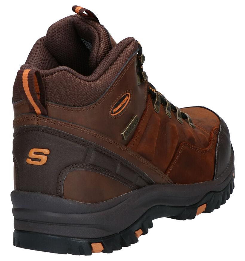 Skechers Bruine Boots in kunstleer (263220)