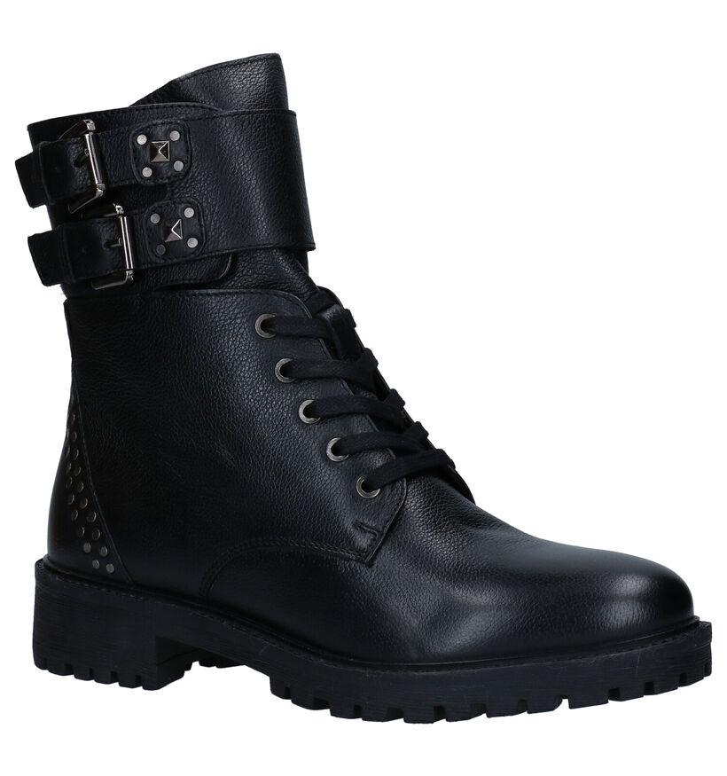 Geox Hoara Zwarte Boots in leer (278870)