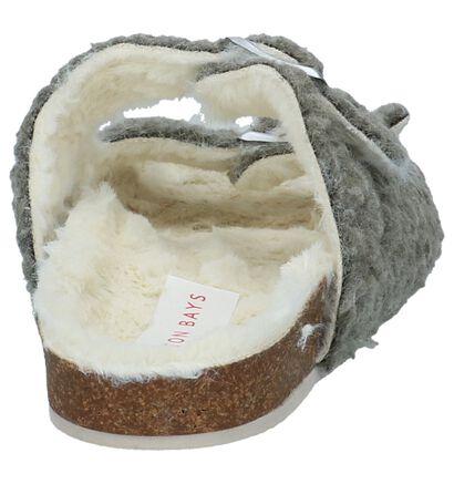 Hampton Bays Pantoufles ouvertes en Gris en faux fur (232365)