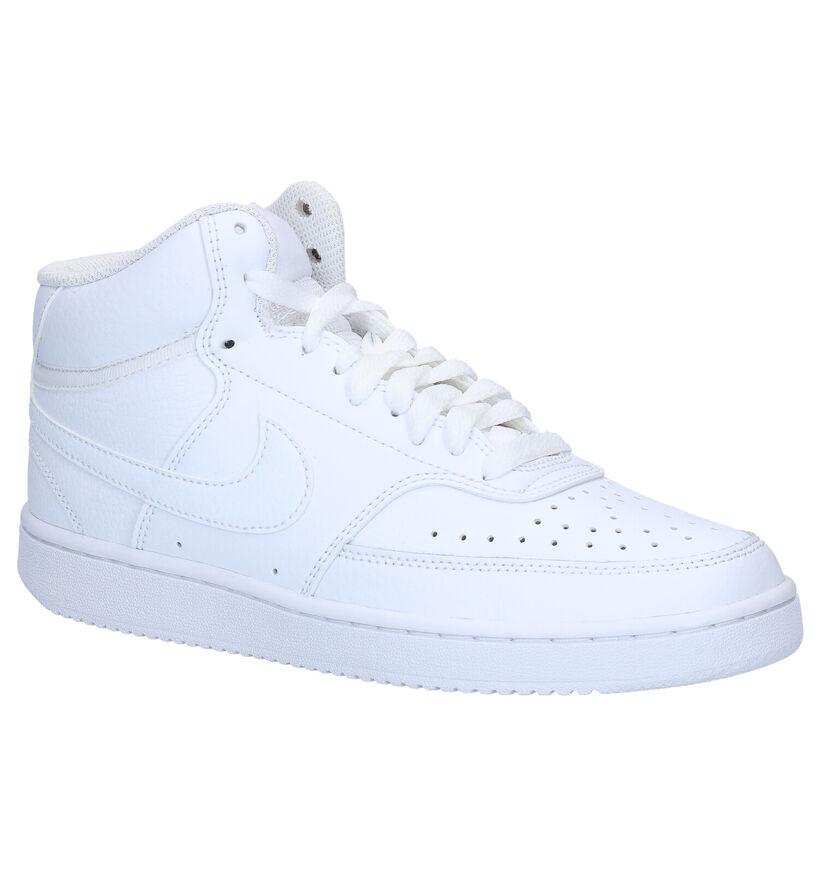 Nike Court Vision Mid Witte Sneakers in kunstleer (283874)