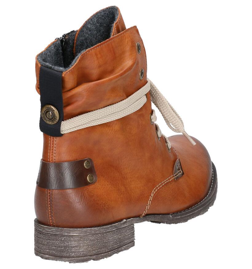 Rieker Cognac Boots in kunstleer (262139)