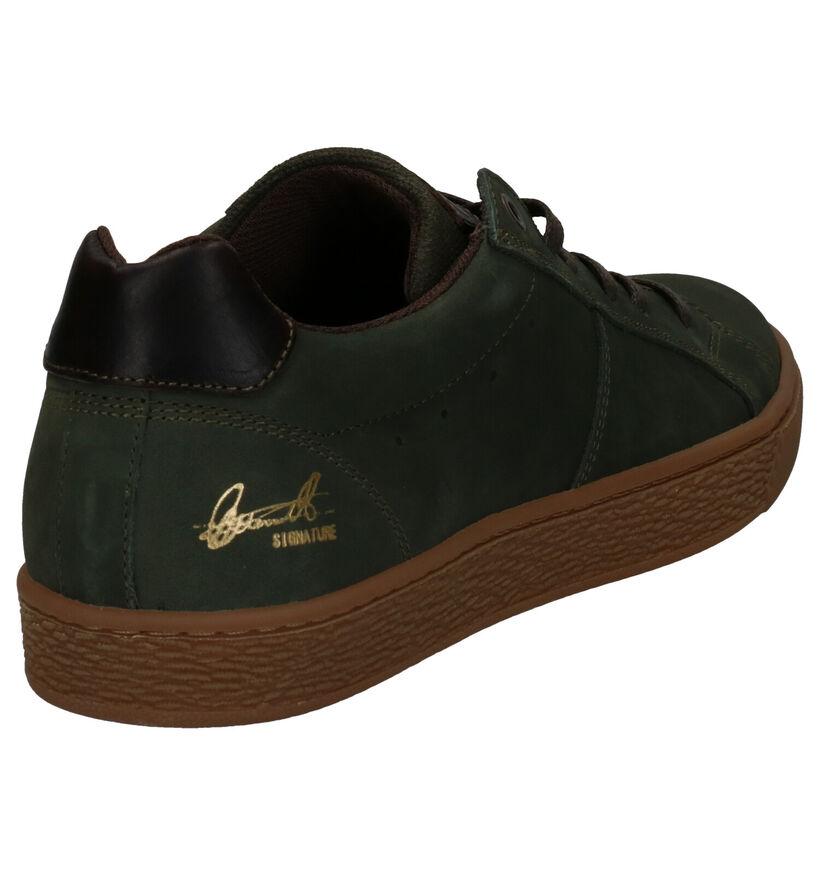 Bullboxer Chaussures basses en Vert kaki en nubuck (276984)