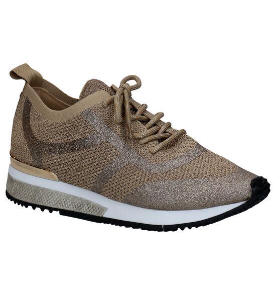 La Strada Chaussures à lacets en Or