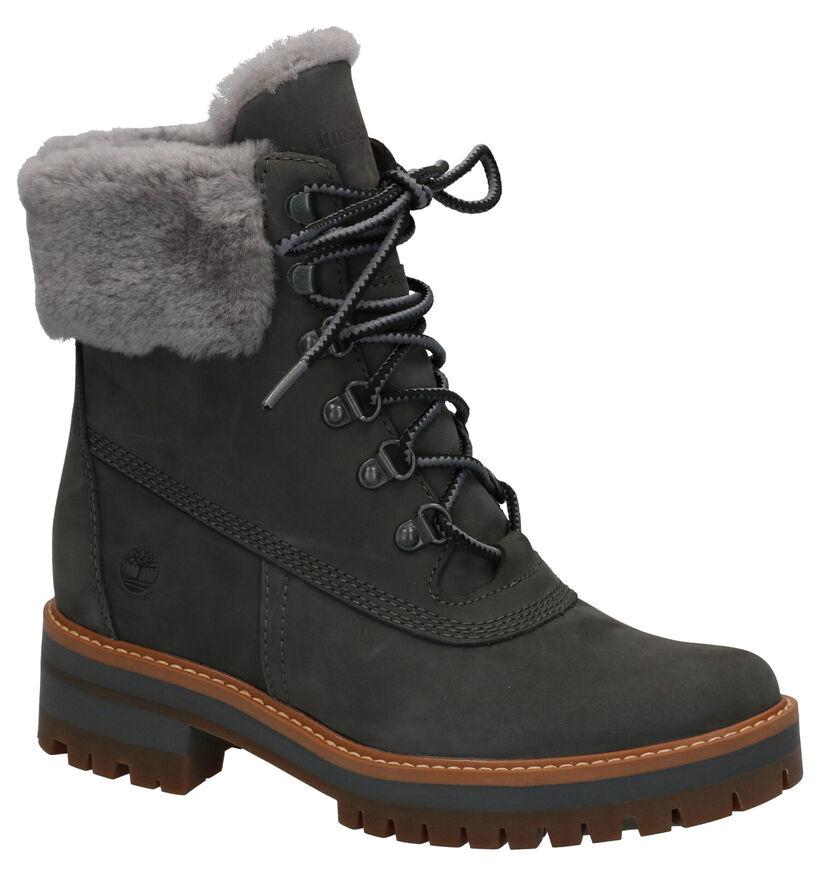 Timberland Courmayeur Valley Grijze Boots in nubuck (255337)