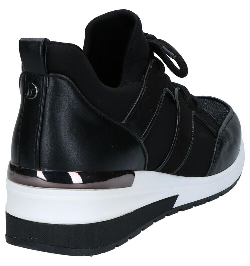 La Strada Baskets basses en Noir en simili cuir (288537)