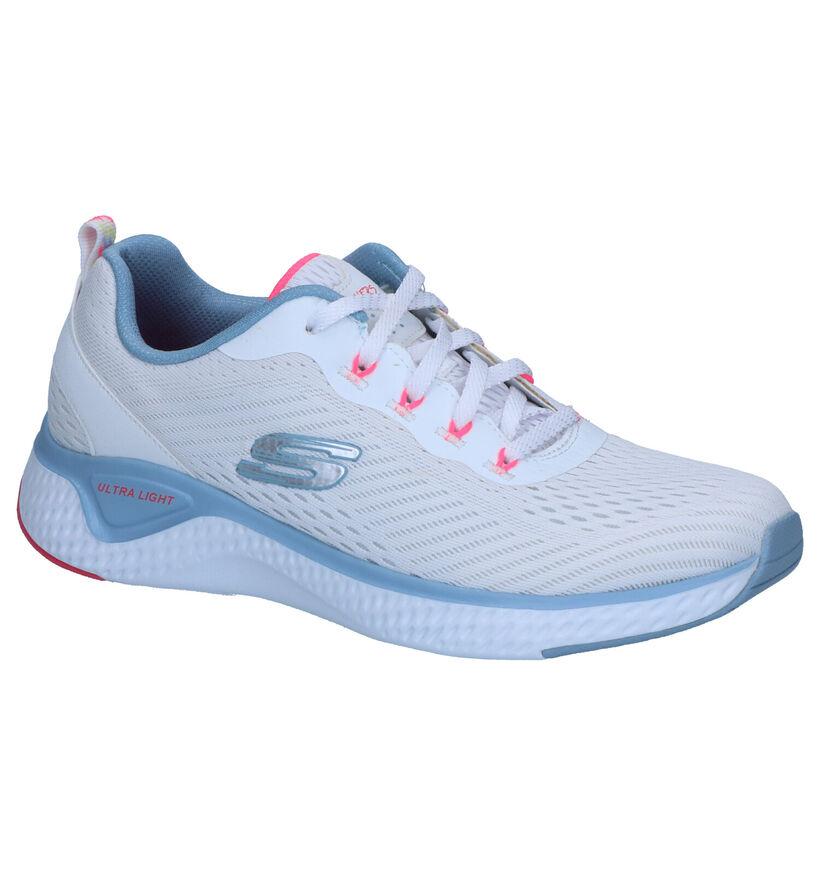 Skechers Solar Fuse Sneakers Wit in stof (266895)