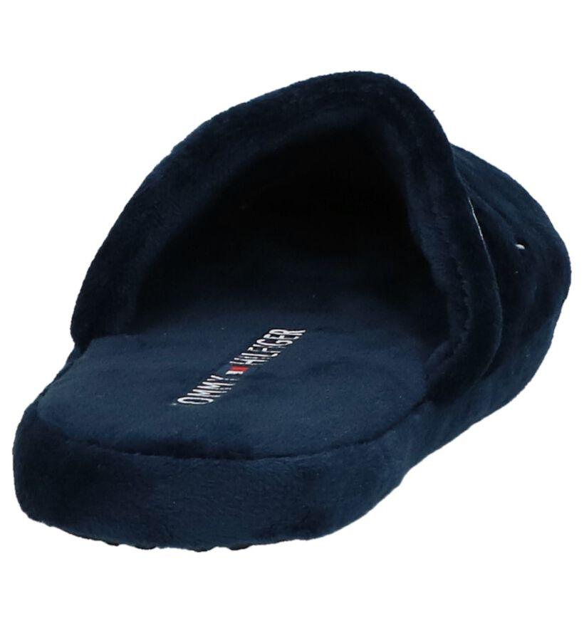Tommy Hilfiger Pantoufles ouvertes en Bleu foncé en textile (225269)
