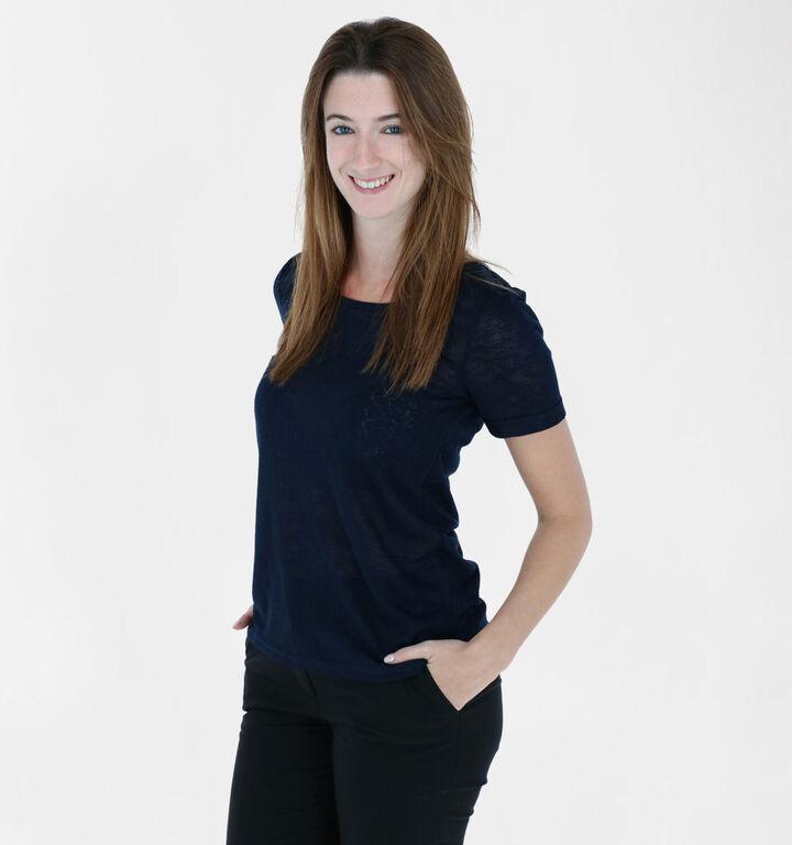 Vila Sumi Blauwe T-shirt