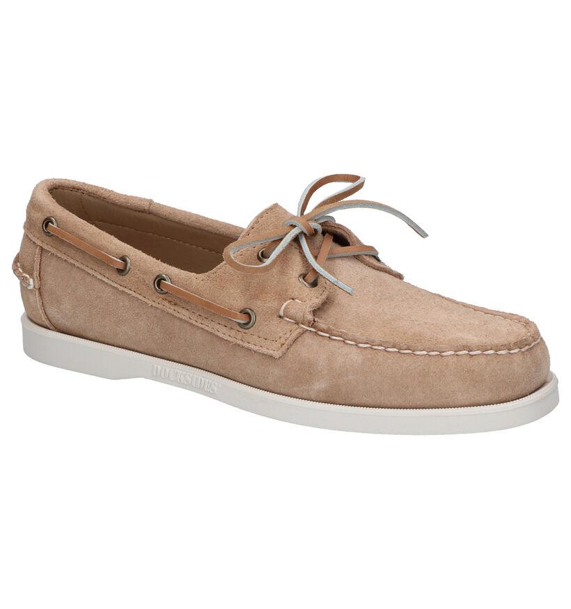 Sebago Chaussures bateau en Rouge foncé en daim (240422)