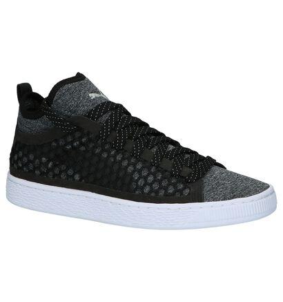 Puma Basket Classic Hoge Sneaker Kaki, Zwart, pdp