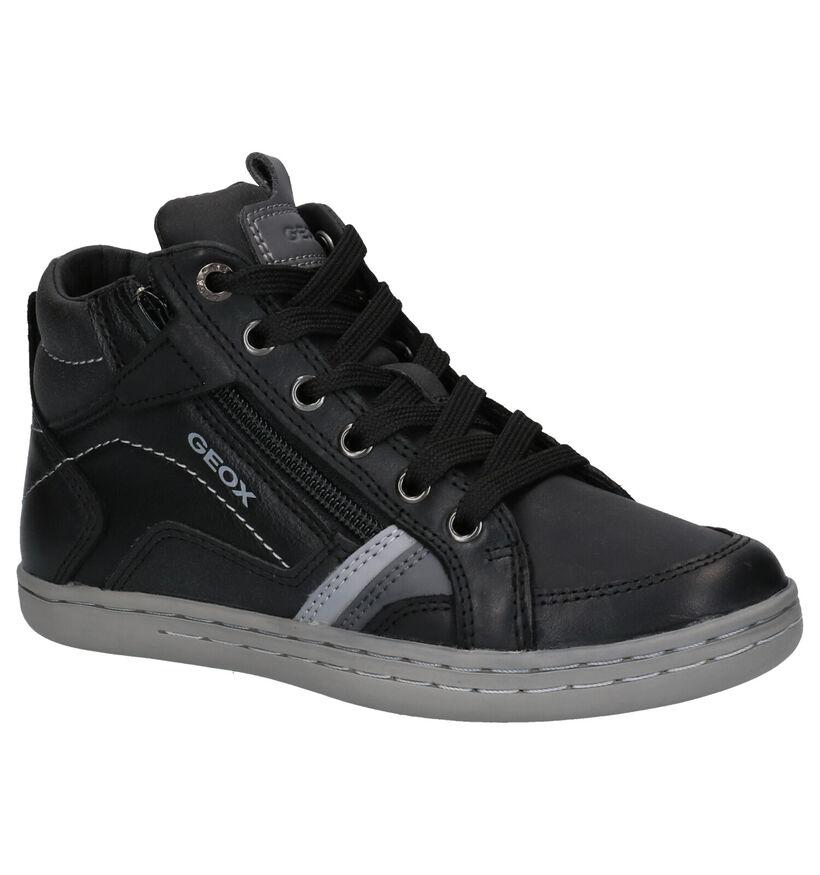Geox Zwarte Hoge Schoenen in leer (254529)