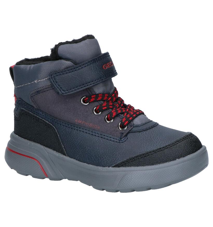 Geox Chaussures hautes en Bleu foncé en simili cuir (254535)