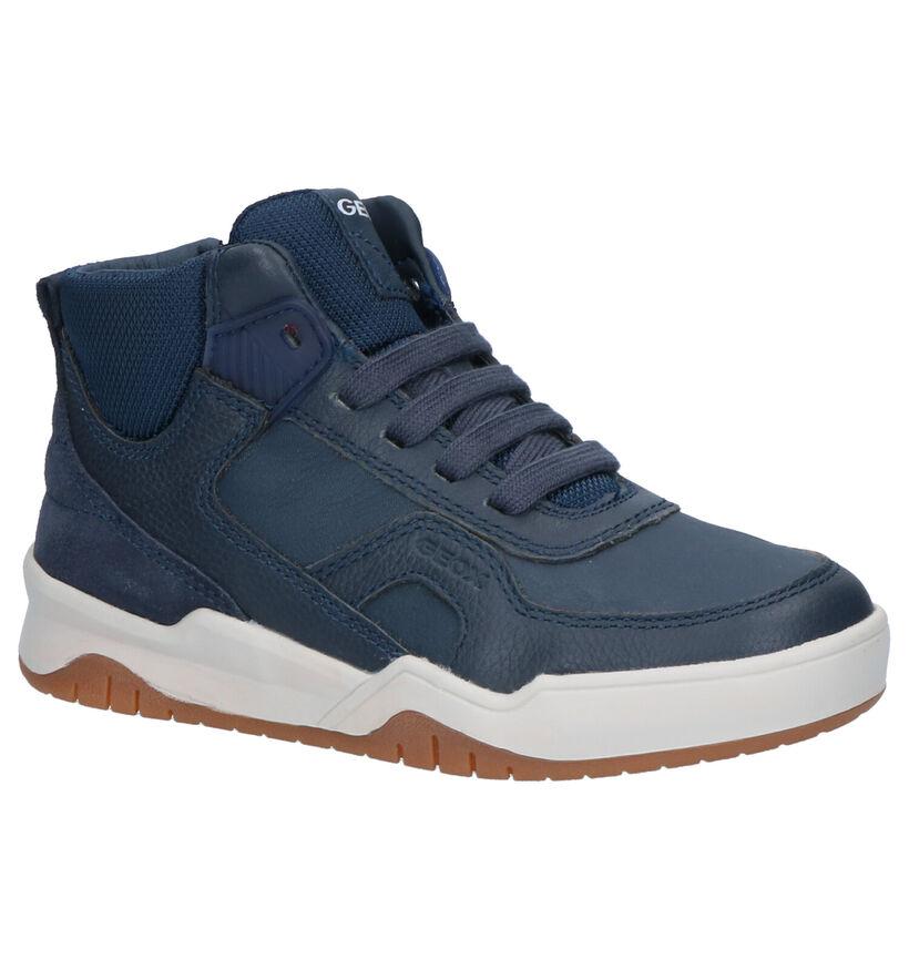 Geox Baskets hautes en Bleu foncé en cuir (254515)