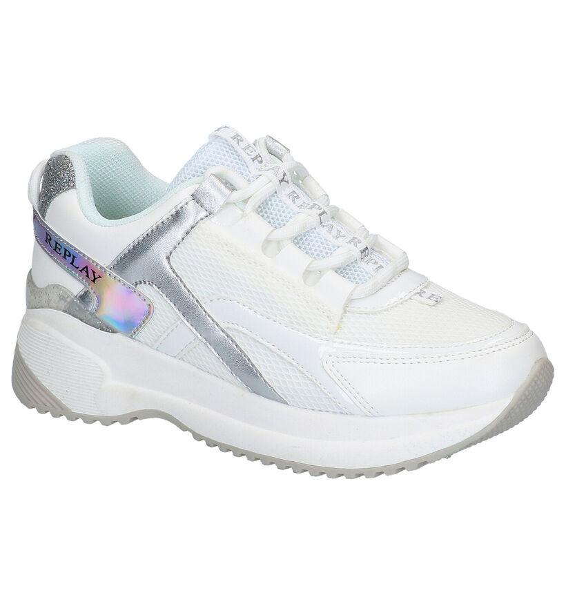 Replay Edimburgh Witte Sneakers in stof (266329)