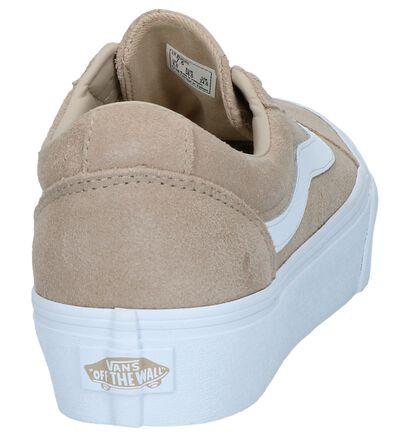Donkerbeige Sneakers Vans Ward Platform, Beige, pdp