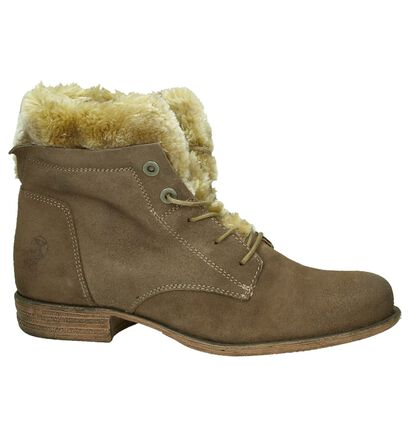 Post Xchange Taupe Bottines met Pelsje, Taupe, pdp