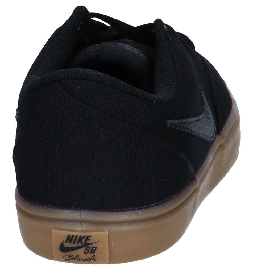 Zwarte Skateschoenen Nike SB Check Solar in stof (250322)