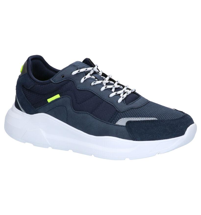 Bullboxer Blauwe Sneakers in daim (272165)