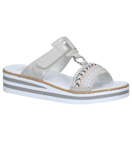 Rieker Zilveren Slippers