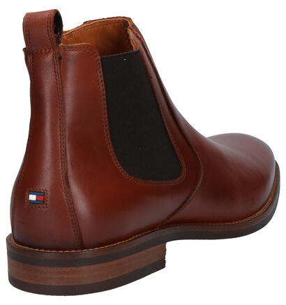 Tommy Hilfiger Chaussures hautes en Cognac en cuir (256791)